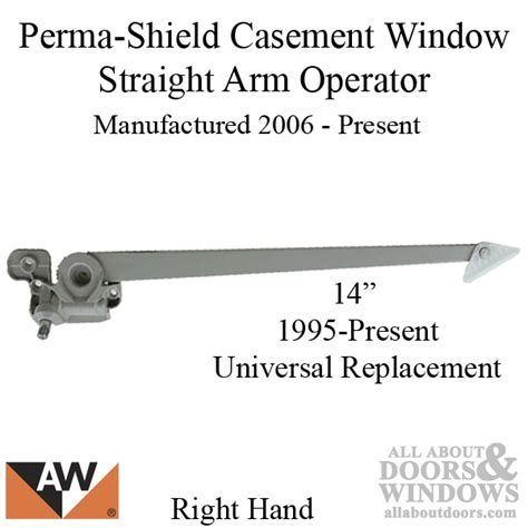 andersen perma shield casement windows straight arm