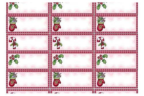 Christmas Address Labels Download Frichip