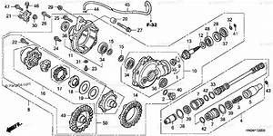 Honda Atv 2002 Oem Parts Diagram For Front Final Gear  Trx500fa U0026 39 01 Fga U0026 39 04