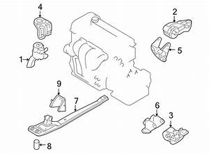 Mazda Tribute Engine Mount  Rear   Trans  Liter  Auto