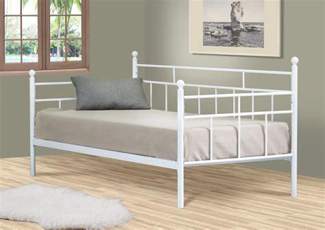 canapé lit confort lit banquette contemporain en métal blanc chantera 90 x