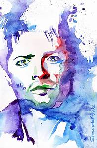 Watercolor faces on Behance