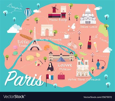map  paris royalty  vector image vectorstock
