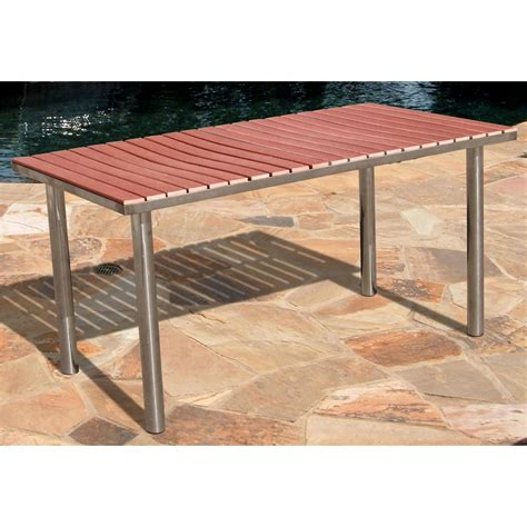 vifah 174 stainless steel frame wood composite outdoor