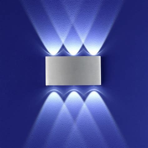 B Leuchten LED Wandleuchte Stream Aluminium   WOHNLICHT