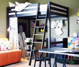 ikea loft bed with desk home decorating excellence