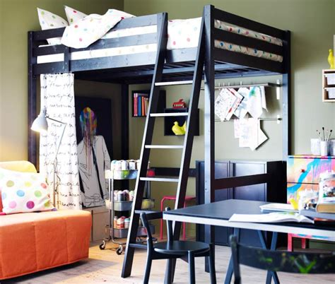 study room ideas from ikea black ikea loft bed with sofa sleeper using white fabric cover also brown bedroom area rug and
