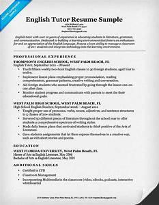 english tutor resume sample resume companion With english resume example