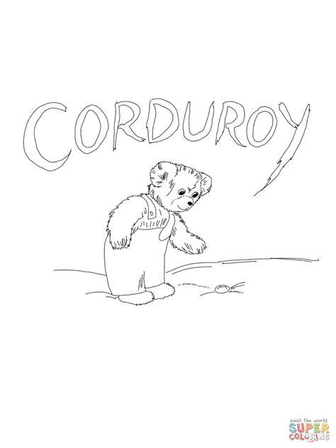 corduroy printables coloring home