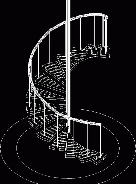 spiral staircase  dwg model  autocad designs cad