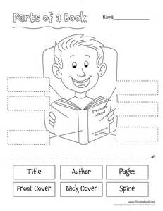 parts of a book tim 39 s printables