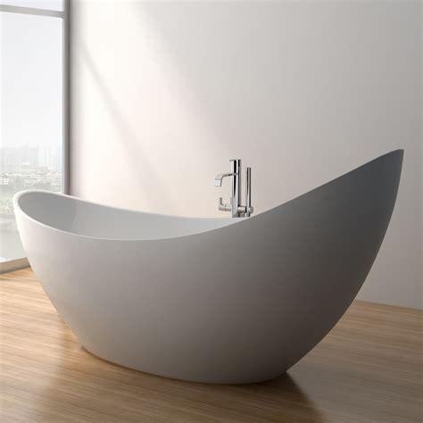 modern bathroom tub debbi 74 quot soaking bathtub matte white free shipping