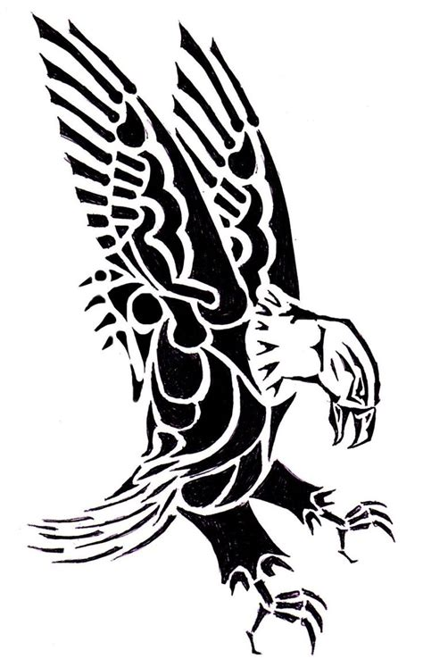 amazing tribal eagle tattoos designs  meanings