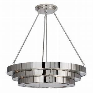 Suspended round stepped deco ceiling light product su