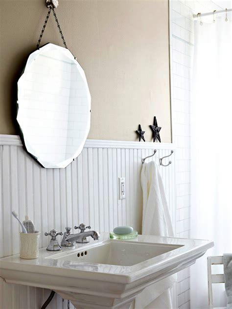 beadboard backsplash cottage bathroom bhg