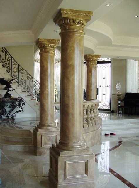 painted marbles faux stone stone columns  mantles