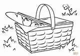 Picnic Basket Coloring Drawing Blanket Pages Printable Drawings Template Crafts Sketch sketch template