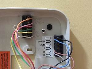 Hunter Thermostat Model B01 Wiring Diagram