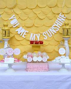 you are my sunshine baby shower (and some cheerful baby