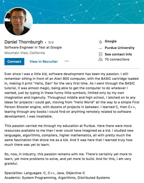 10 LinkedIn Profile Summaries That We love (And How to ...