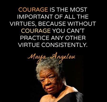 Famous Quotes Maya Angelou Courage