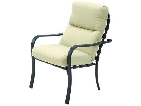 suncoast rosetta cushion cast aluminum arm dining chair 5403