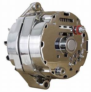 New Chrome Bbc Sbc Chevy Alternator 110 Amp 1 Wire Ho Self Exciting Energizing