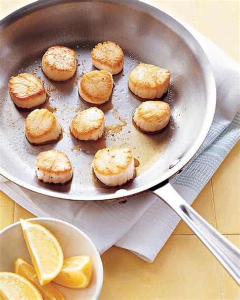 pan seared scallops pan seared scallops with lemon recipe martha stewart