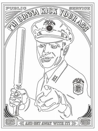 Coloring Police Brutality Poster Political History Wired