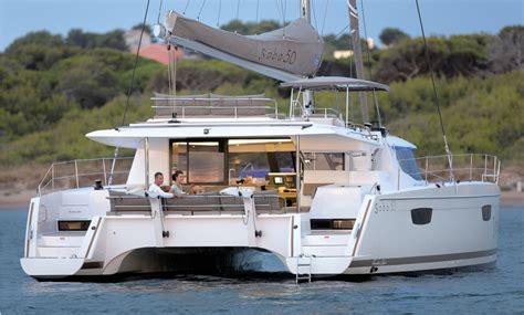 Catamaran Sailboat by Catamarans Sailboat Saba 50 Fountaine Pajot