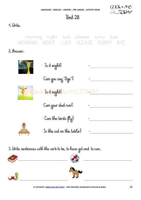 free printable beginner esl pre junior worksheet 28