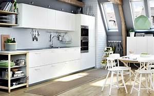 Küchen Regale Ikea : regale in holz eine weisse metod k che mit veddinge fronten in weiss inspiration pinterest ~ Markanthonyermac.com Haus und Dekorationen