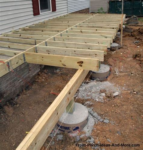 floating concrete deck footings porch foundations decks front porches and diy and crafts