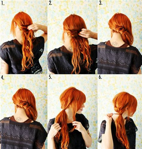 style  twisted side ponytail  beautiful mess