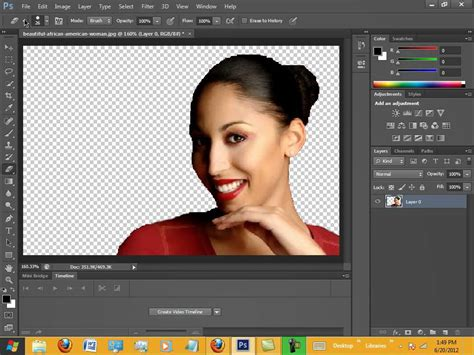 photoshop delete background  background check