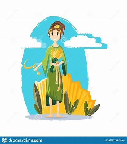 Demeter Goddess Illustratie Godin Mythologische Griekse Oude
