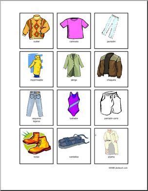 spanish clothing vocabulary game abcteach
