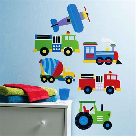 Wandtattoo Kinderzimmer Junge Fahrzeuge by Wandsticker Fahrzeuge Autos Loks Lkw Traktoren Kinderzimmer