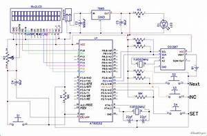 8051 Digital Clock Circuit Diagram