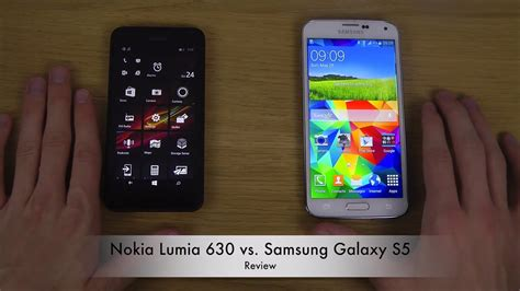nokia lumia 630 vs samsung galaxy s5