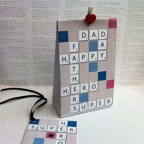 Fathers Day Ideas Scrabble Inspired Father's Day Gift