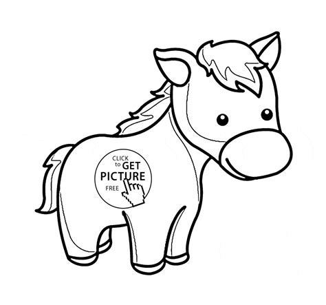 horse coloring pages  preschoolers