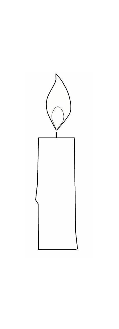 Candle Clipart Colour Clip Sketch Candles Outline