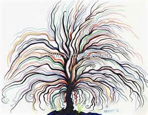 Drawing Tree Black Painting
