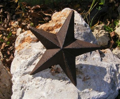 cast iron star nail wall garden home country decor rustic