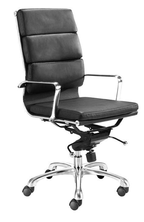 director office chair with high back and leatherette seat