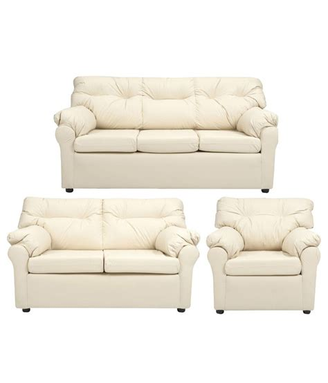 elzada  seater sofa set   white buy elzada
