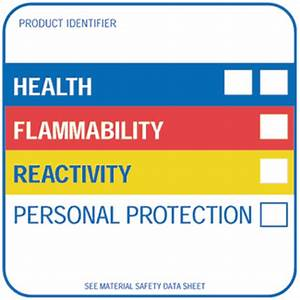 hmis label 4quot x 4quot gloss paper preprinted ghs With hmis label