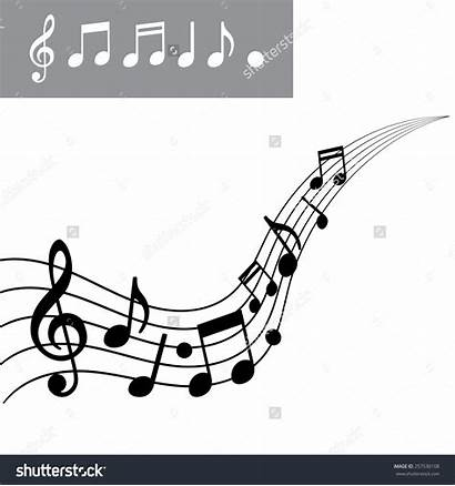Musical Scale Clipart Notes Note Clipground Vector