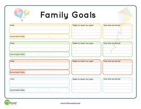 pics for gt goal setting worksheet for